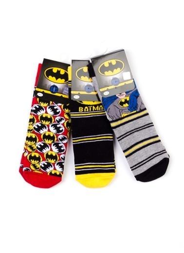 Batman Batman 6'lı Soket Çorap 17057 Siyah